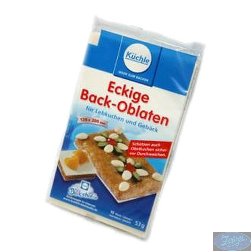 Backoblaten Eckig
