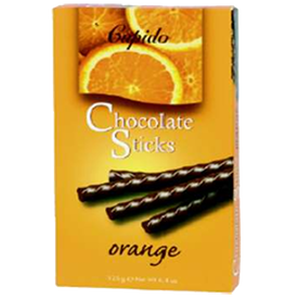 Schokolade Sticks orange