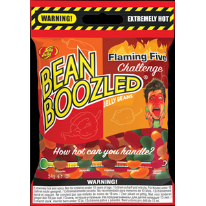 Jelly Belly Bean Boozled Flaming Five Challenge - Extremely hot and spicy