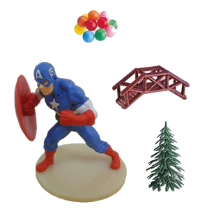 Captain America Tortendeko Kit