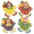 Zuckerfigur Clown groß 65x70x14mm 4 Motive
