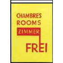 Chambres Rooms Reklamefahne