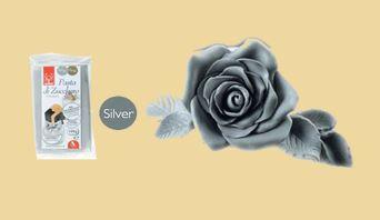 Zuckerfiguren, Deko, Blumen aus Massa Ticino